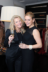 Left to right, ROSEMARY FORSYTH and ALICE KODELL at a private view of Atelier-Mayer.com's collection held at 131 Oakwood Court, London, on 24th November 2009.