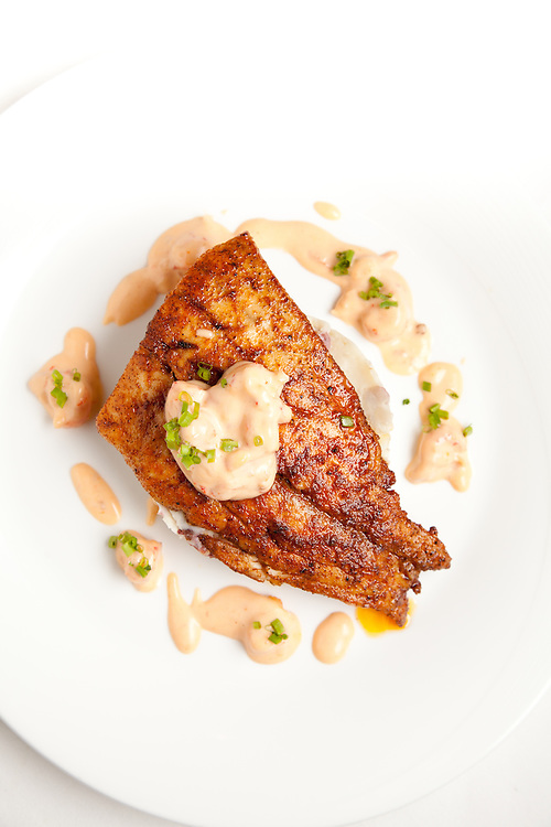 Creole Seared Redfish at the Kelly English Steahouse at Harrah's Casino in Maryland Heights, MO.