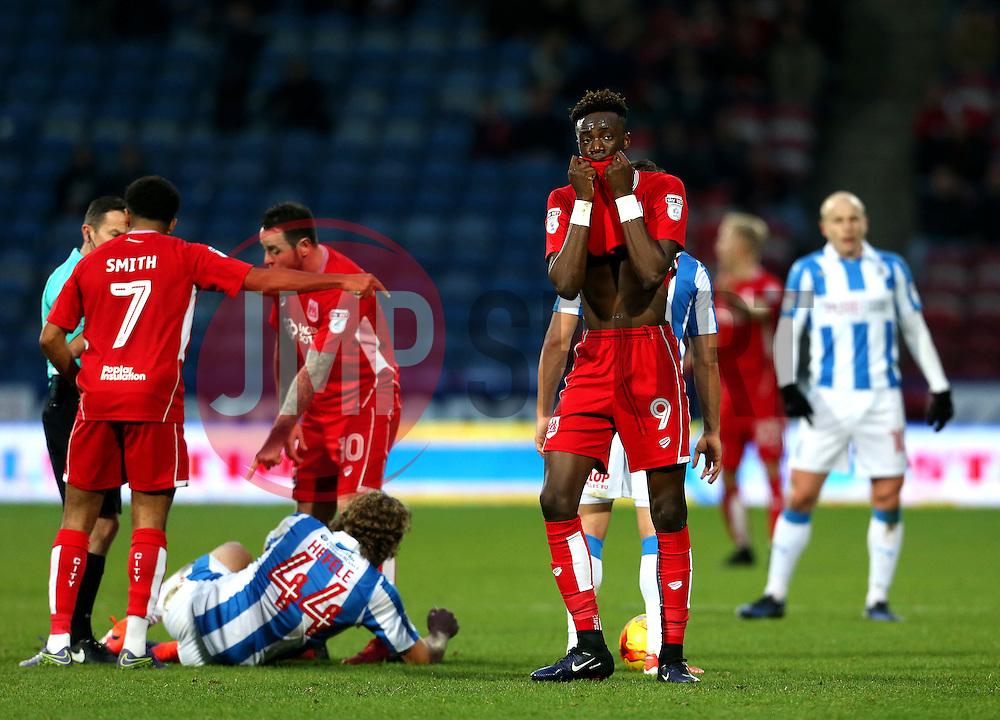 Tammy Abraham of Bristol City shows a look of dejection - Mandatory by-line: Matt McNulty/JMP - 10/12/2016 - FOOTBALL - The John Smith's Stadium - Huddersfield, England - Huddersfield Town v Bristol City - Sky Bet Championship
