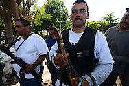 Member of a self-defense force shows high-caliber ammunition being used to fight off the Knights Templar cartel. The self-defense that have been armed only with shotguns and even slingshots said they are increasingly seizing bounty as the Knights Templar flee towns.