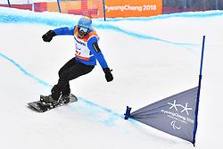 CODINA THOMATIS Carlos Javier ARG competing in ParaSnowboard, Snowboard Banked Slalom at  the PyeongChang2018 Winter Paralympic Games, South Korea.