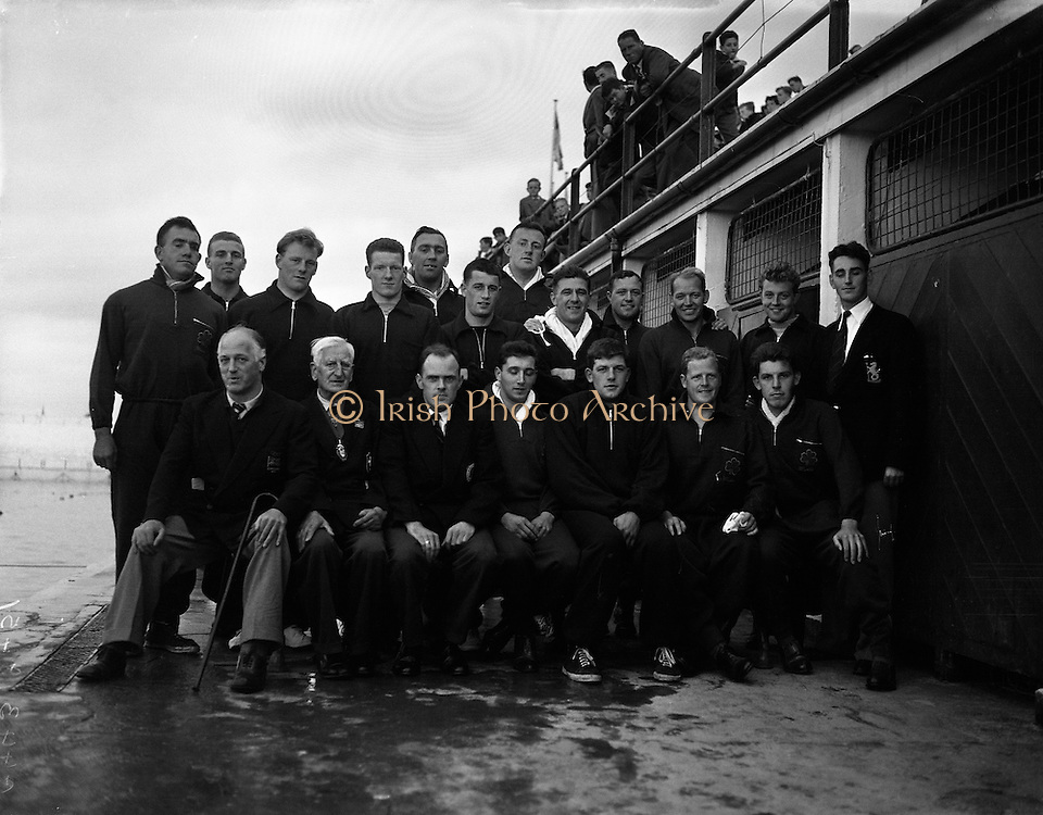 Water Polo - Ireland vs Wales at Blackrock baths, Dublin.27/07/1957, dlr,