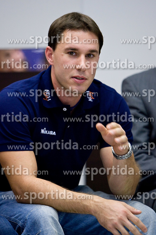 Physiotherapist Marko Sercer at press conference of volleyball club ACH Volley before new season 2009/2010,  on September 28, 2009, in Ljubljana, Slovenia.  (Photo by Vid Ponikvar / Sportida)