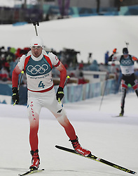 February 11, 2018 - Pyeongchang, GANGWON, SOUTH KOREA - Feb 11, 2018-Pyeongchang, South Korea-Grzegorz GUZIK of Polska action on the snow during an Olympic Biathlon Mens Sprint 10Km at Biathlon Center in Pyeongchang, South Korea. (Credit Image: © Gmc via ZUMA Wire)