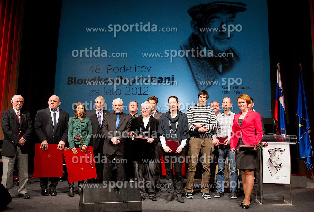 Group picture at 48th Annual Awards of Stanko Bloudek for sports achievements in Slovenia in year 2012 on February 12, 2013 in Grand Hotel Union, Ljubljana, Slovenia. (Photo By Vid Ponikvar / Sportida)