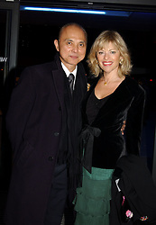 JIMMY CHOO and EDINA RONAY at the launch party for 'The London Look - Fashion From Street to Catwalk' held at the Museum of London, London Wall, Londom EC2 on 28th October 2004<br /><br />NON EXCLUSIVE - WORLD RIGHTS