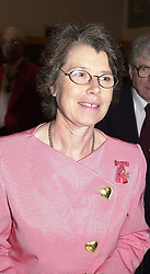 DAME SUE TINSON at a dinner in London on<br />  23rd May 2000.OEL 17