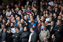 SHEFFIELD, ENGLAND - Saturday, March 17, 2012: Tranmere Rovers' supporters during the Football League One match against Sheffield United at Bramall Lane. (Pic by David Rawcliffe/Propaganda)