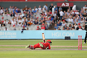 Lancashires Alex Davies during the Vitality T20 Blast North Group match between Lancashire Lightning and Leicestershire Foxes at the Emirates, Old Trafford, Manchester, United Kingdom on 3 August 2018. Picture by George Franks.