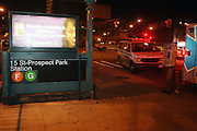 An unidentified male was struck and killed in by Brooklyn Bound F Train at the15th Street Prospect Park Station in Brooklyn, New York. Circumstances surrounding death remained a mystery at present time.