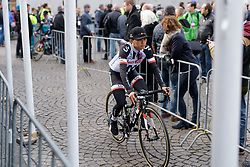 Women's WorldTour Leader, Coryn Rivera at the Amstel Gold Race Ladies Edition - a 121.6 km road race between Maastricht and Valkenburg on April 16 2017 in Limburg, Netherlands.