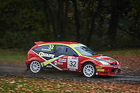 #32 Alex Cannon / Ray Keith Ford Focus Bolton-le-Moors rallyworldduring Neil Howard Memorial Stage Rally, and opening round of the 2015 Motorsport News Rally Championship.  at Oulton Park, Little Budworth, Cheshire, United Kingdom. November 07 2015. World Copyright Peter Taylor. Copy of publication required for printed pictures.  Every used picture is fee-liable. http://archive.petertaylor-photographic.co.uk