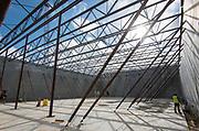 Construction at Yates High School, April 20, 2017.