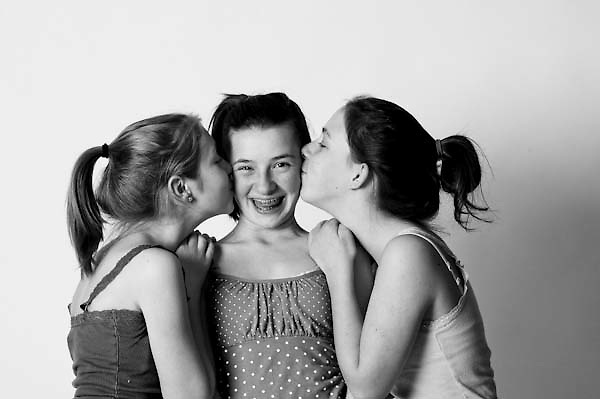 One in a series of photography showing girls and women smiling and feeling happy