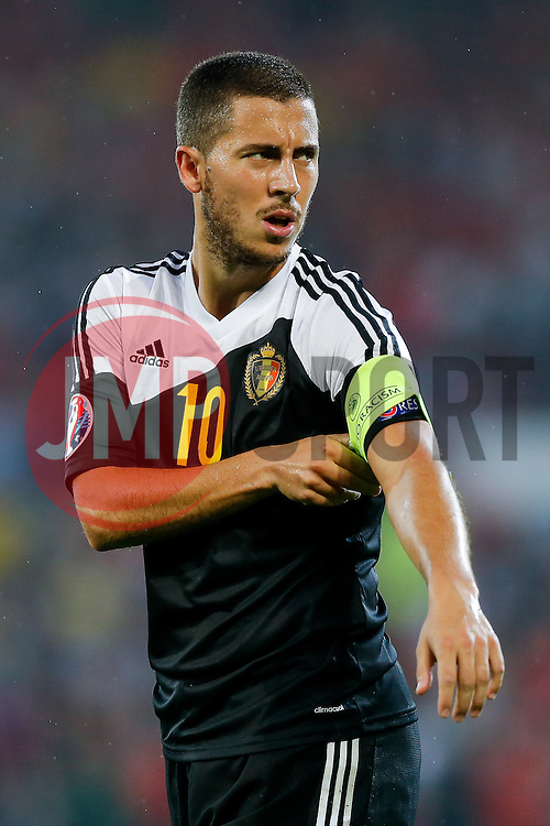 Eden Hazard of Belgium (Chelsea) - Photo mandatory by-line: Rogan Thomson/JMP - 07966 386802 - 12/06/2015 - SPORT - FOOTBALL - Cardiff, Wales - Cardiff City Stadium - Wales v Belgium - EURO 2016 Qualifier.