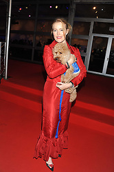 SHAUNA LOWRY and Billy the dog at the Battersea Dogs & Cats Home Collars & Coats Gala Ball held at Battersea Evolution, Battersea Park, London SW8 on 8th November 2012.