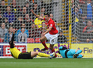 Picture by David Horn/Focus Images Ltd +44 7545 970036<br /> 14/09/2013<br /> Richard Wood of Charlton Athletic celebrates what he thinks is the opening goal, only for it to be ruled out for a foul during the Sky Bet Championship match at Vicarage Road, Watford.