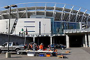 General view of the stadium exterior of Paul Brown Stadium prior to the Cincinnati Bengals NFL week 8 football game against the Miami Dolphins on Sunday, October 31, 2010 in Cincinnati, Ohio. The Dolphins won the game 22-14. (©Paul Anthony Spinelli)