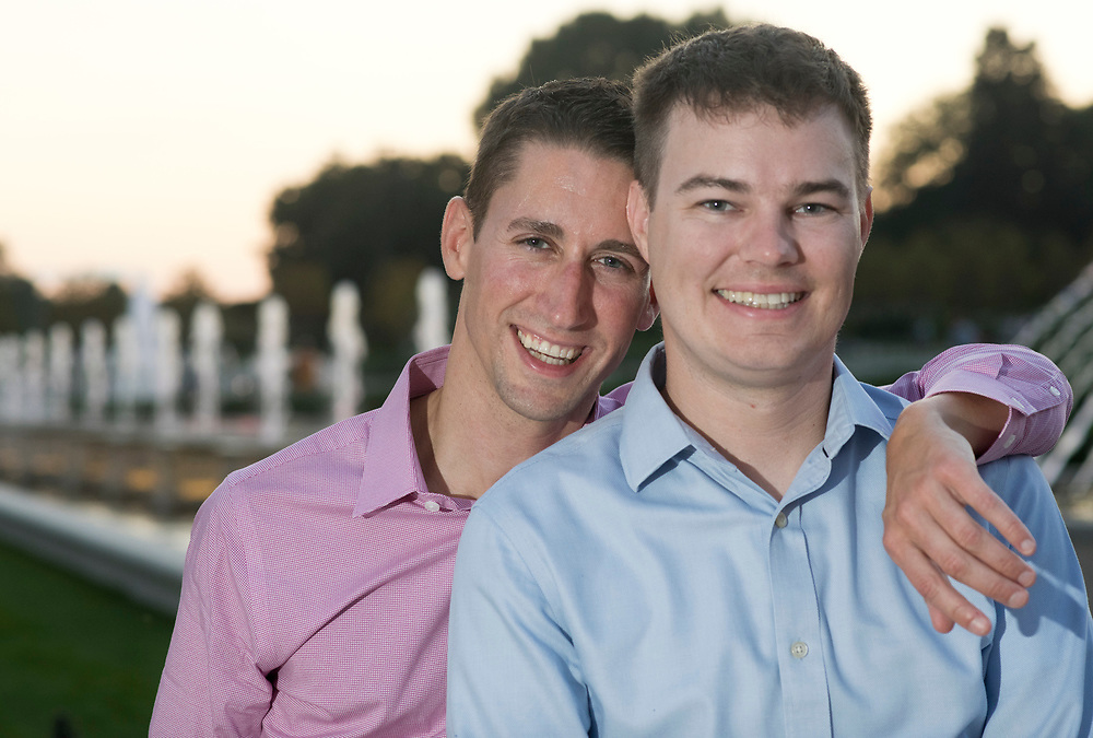 Keith and Derek's engagement photo session at Longwood Gardens in Kennett Square, Pennsylania
