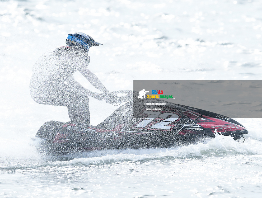 PATTAYA, THAILAND - DECEMBER 09: Jeremy Poret (72) of France and Jeremy Poret in action during the Pro Ski Grandprix Moto4 at the Thai Airways International Jet Ski World Cup 2018, Jomtien Beach, Pattaya, Thailand on December 09, 2018. <br /> .<br /> .<br /> .<br /> (Photo by: Naratip Golf Srisupab/SEALs Sports Images)<br /> .<br /> Any image use must include a mandatory credit line adjacent to the content which should read: Naratip Golf Srisupab/SEALs Sports Images