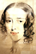 Portrait of Fanny Dickens 1836. Along with portraits of Charles Dickens and his wife Catherine this drawing of Fanny by Samuel Laurence. As a young child Fanny (1910-48 loved performing songs with her brother and visiting the theatre. She first entered the Royal Academy in 1823, Where she studied singing and playing the piano.