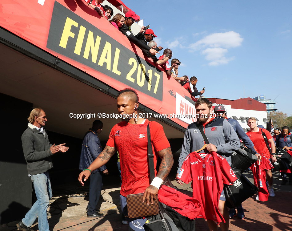 Elton Jantjies of the Lions during the 2017 Super Rugby Final between the Lions and Crusaders at Ellis Park, Johannesburg on 05 August 2017 ©Gavin Barker/BackpagePix / www.photosport.nz