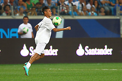 Neymar durante a 10ª edição do Jogo Contra a Pobreza - Match Against Poverty, na Arena do Grêmio, em Porto Alegre. FOTO: Lucas Uebel/Preview.com