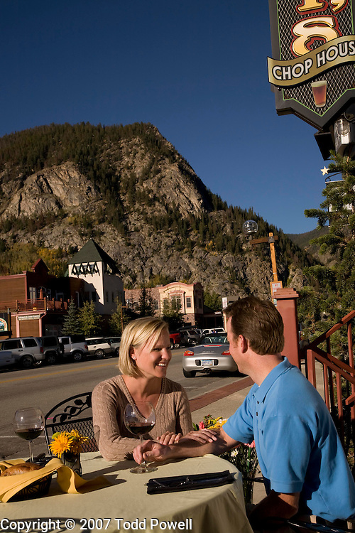 Dining on Frisco Main Street, Colorado