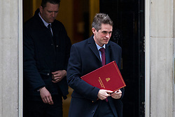 © Licensed to London News Pictures. 01/03/2018. London, UK. Defence Secretary Gavin Williamson on Downing Street after a meeting of the Cabinet ahead of Prime Minister Theresa May's speech on Brexit. Photo credit: Rob Pinney/LNP