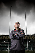 Eddie Jones, England Rugby manager, photogtraphed at Twickenham Stadium.
