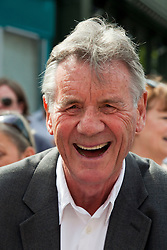 © under license to London News Pictures. 25/06/12..Fellow Python Michael Palin outside The Angel Inn at the unveiling of a blue plaque to former Monty Python star, Graham Chapman. The memorial has been organised by Chapman's family, friends, and former colleagues, following the news that English Heritage have dropped plans for an 'official' Blue Plaque to the star, due to budget cuts. ..ALEX CHRISTOFIDES/LNP