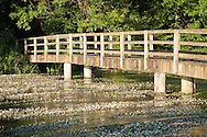 Footbridge over the River Kennet at Chilton Foliat near Hungerford, Berkshire, Uk