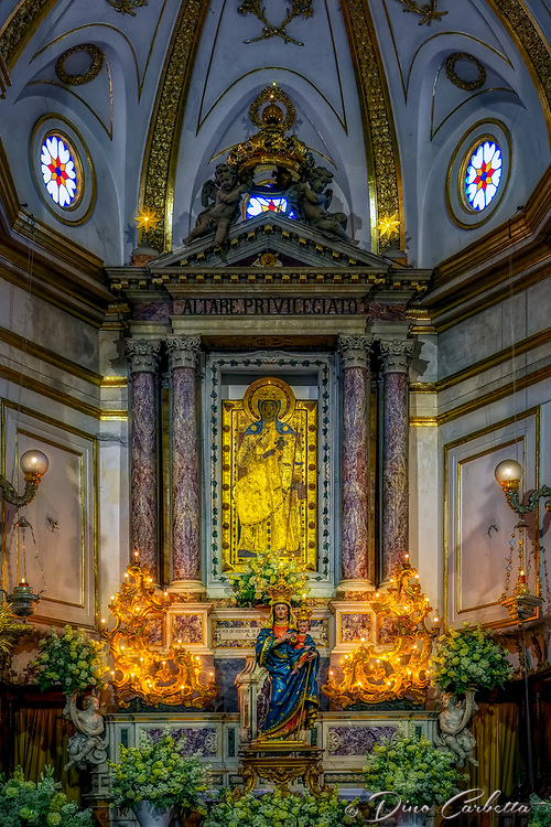 """Privileged Altar - The Church of Our Lady of the Assumption Positano""...<br />