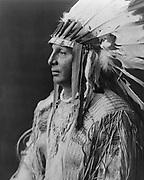 White Shield, Arikara Native  Indian  c1908. By Edward Curtis 1868-1952 photographer
