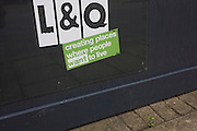 London Housing Association company L & Q poster that tells us that residents will want to live and be happy.