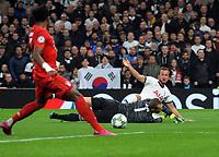 Football - 2019 / 2020 UEFA Champions League - Group B: Tottenham Hotspur vs. Bayern Munich<br /> <br /> Harry Kane of Tottenham goes round goalkeeper Manuel Neuer at The Tottenham Hotspur Stadium.<br /> <br /> COLORSPORT/ANDREW COWIE
