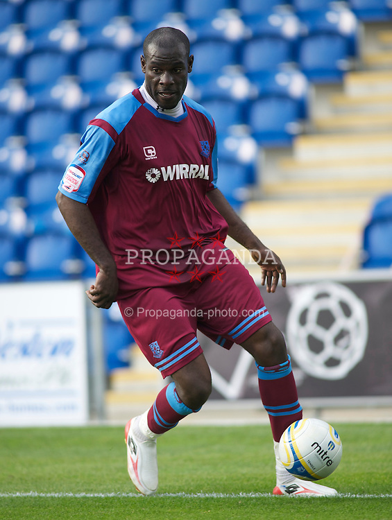 COLCHESTER, ENGLAND - Saturday, September 25, 2010: Tranmere Rovers' Enoch Showunmi in action during the League One match at the Colchester Community Stadium. (Photo by Gareth Davies/Propaganda)