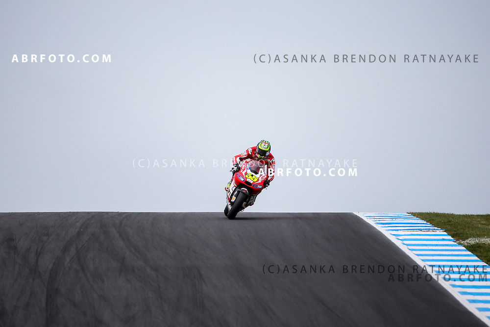 Cal Crutchlow  riding for Ducati Team during the 2014 MotoGP of Australia at Phillip Island Grand Prix Circuit in Phillip Island, Australia on the 19th October 2014. Photo Asanka Brendon Ratnayake