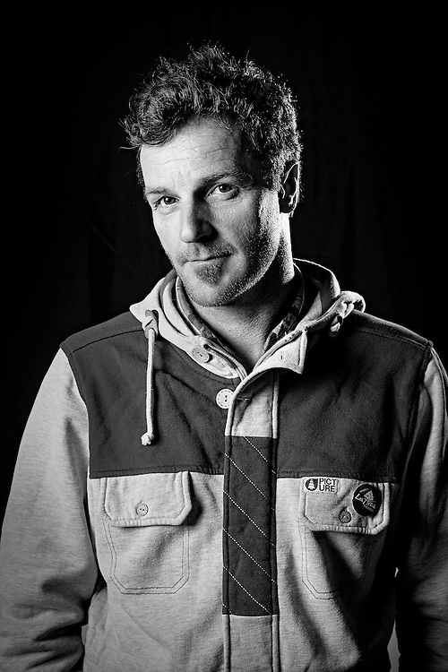 Francois Bon poses for a portrait during the filming of the Unrideables in Chamonix, France on May 23rd, 2014.