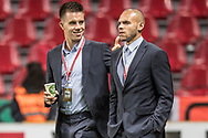 FOOTBALL: Jonas Knudsen and Martin Braithwaite (Denmark) inspects the pitch prior to the World Cup 2018 UEFA Play-off match, first leg, between Denmark and the Republic of Ireland at Parken Stadium on November 11, 2017 in Copenhagen, Denmark. Photo by: Claus Birch / ClausBirch.dk.