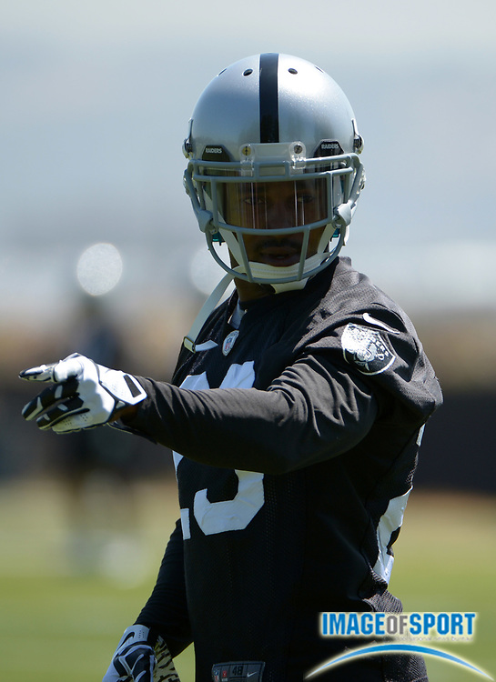 Jun 10, 2014; Alameda, CA, USA; Oakland Raiders cornerback Tarell Brown (23) at organized team activities at the Raiders practice facility.
