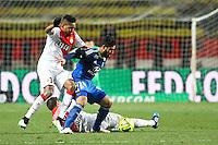 Nabil FEKIR / WALLACE - 01.02.2015 - Monaco / Lyon - 23eme journee de Ligue 1 -<br />Photo : Serge Haouzi / Icon Sport