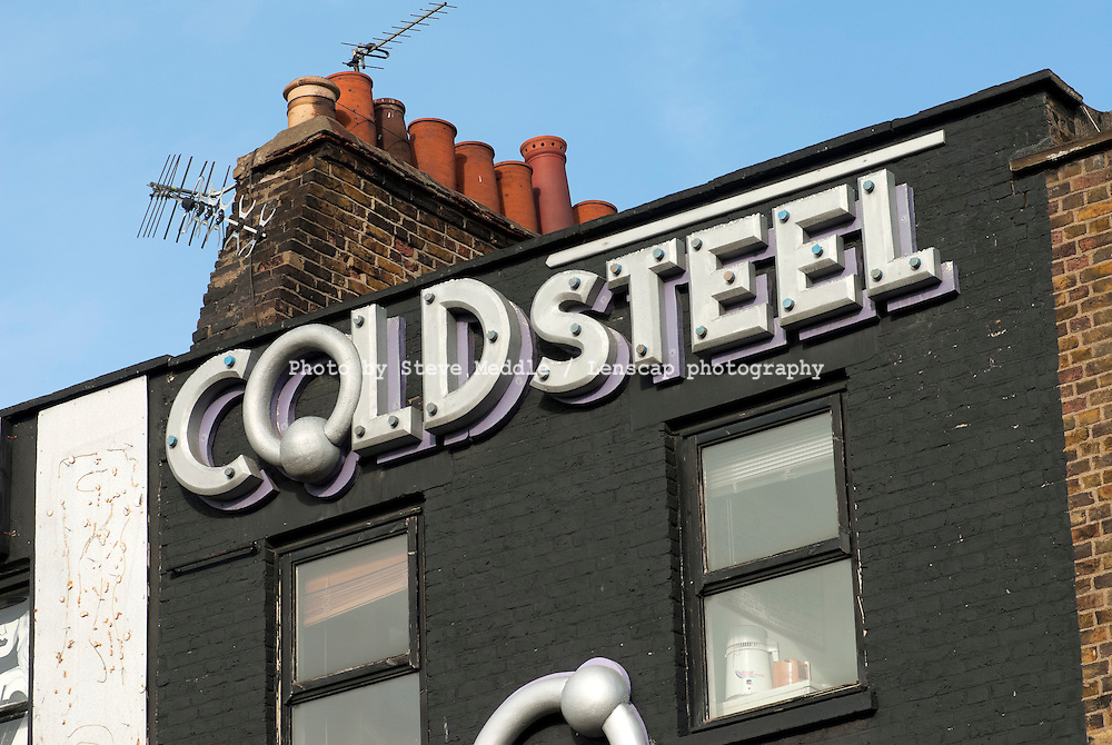 Cold Steel,  Body Piercing Shop, Camden High Street, Camden Town, North London, Britain