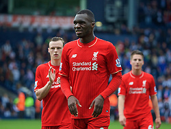 WEST BROMWICH, ENGLAND - Sunday, May 15, 2016: Liverpool's Christian Benteke after the 1-1 draw against West Bromwich Albion during the final Premier League match of the season at the Hawthorns. (Pic by David Rawcliffe/Propaganda)