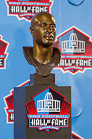 07 August 2010: The Jerry Rice bust at Pro Football Hall of Fame in Canton, Ohio.