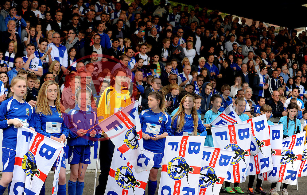 Bristol Rovers flags and fans mandatory by-line: Neil Brookman/JMP - Mobile: 07966 386802 - 25/04/2015 - SPORT - Football - Bristol - Memorial Stadium - Bristol Rovers v Alfreton Town - Vanarama Football Conference