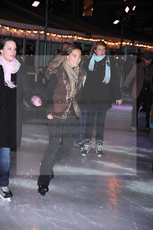 PIPPA MIDDLETON at the opening of the Somerset House ice Rink for 2008 sponsored by Tiffany & Co held at Somerset House, The Strand, London on 18th November 2008.
