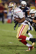 San Francisco 49ers tight end Je'Ron Hamm (85) runs with the ball after catching a pass during the 2016 NFL preseason football game against the San Diego Chargers on Thursday, Sept. 1, 2016 in San Diego. The 49ers won the game 31-21. (©Paul Anthony Spinelli)