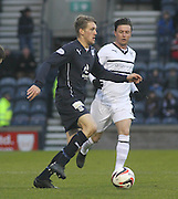 Jim McAlister and Joe Cardle - Raith Rovers v Dundee,  SPFL Championship at Starks Park<br /> <br />  - &copy; David Young - www.davidyoungphoto.co.uk - email: davidyoungphoto@gmail.com