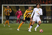 Manchester United's Marouane Fellaini on the ball during the The FA Cup match between Cambridge United and Manchester United at the R Costings Abbey Stadium, Cambridge, England on 23 January 2015. Photo by Phil Duncan.